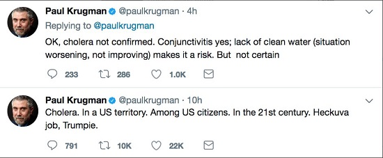 Krugman - what an ignorant dickhead.